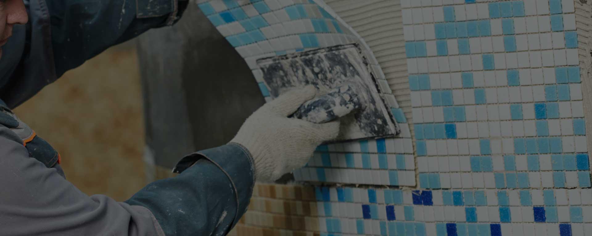 Fliesen legen Mosaik Muster